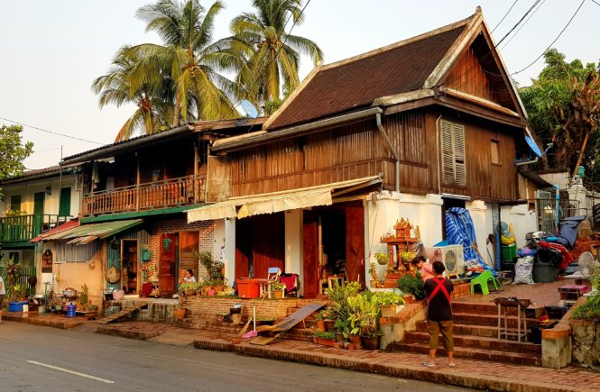 Traditionnal Lao houses in Luang Prabang